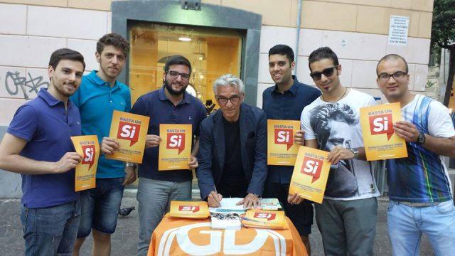 Giovani democratici,con il Sinfaco-Vincenzo Napoli-referendum Si