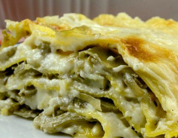 Lasagna con carciofo di paestum igp