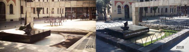 Monumento Giudice-Prima e dopo