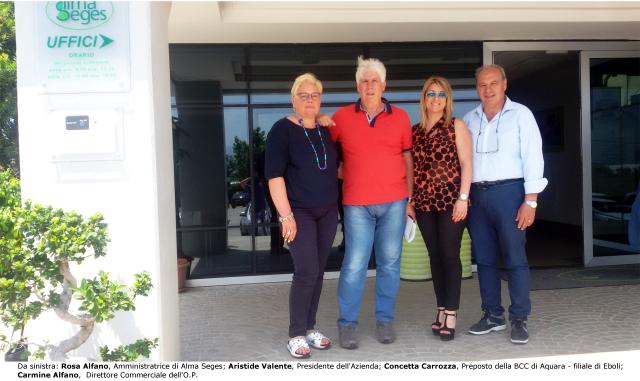 Alfano-Valente-Carrozza-Alfano- visita BCC Aquara ad Alma Seges