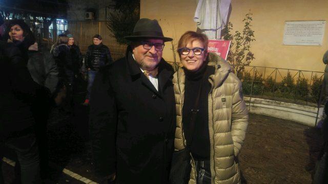 Cecilia Francese con Massimo Del Mese-convegno Donne in politica