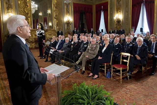 25 Aprile 2018-Mattarella incontra le Associazioni combattentistiche
