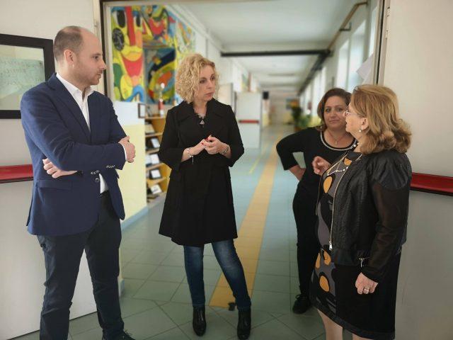 Virginia Villani-Cosimo Adelizzi-visita scuole Agropoli