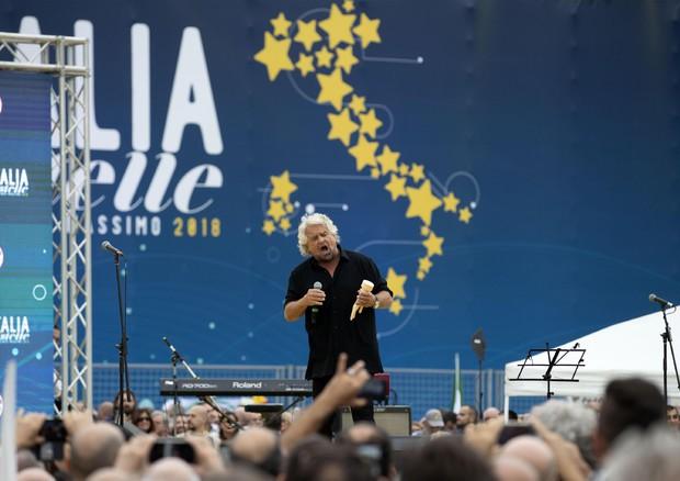 Beppe Grillo alla 5 kermesse del M5S