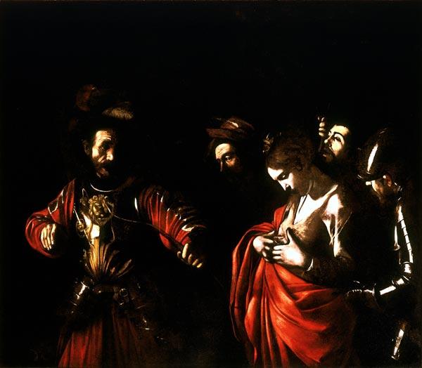 Il Martirio di Sant'Orsola confitta dal Tiranno. 1610 ante restauro