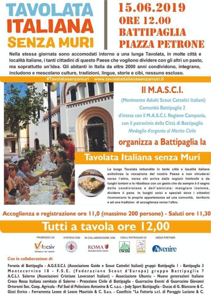 Tavolata italiana senza muri-Battipaglia