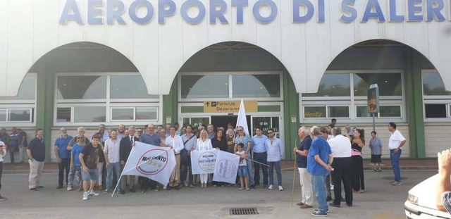 Conferenza stampa del Ministro Toninelli-aeroporto salerno