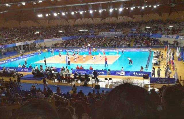 Universiadi 2019 finale Palasele Volley Mas hile medaglia d'oro