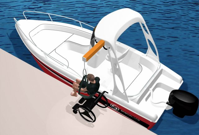Imbarcazione modificata per disabili