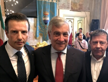 Antonio Lombardi-Antonio Tajani-Michele Allegretti