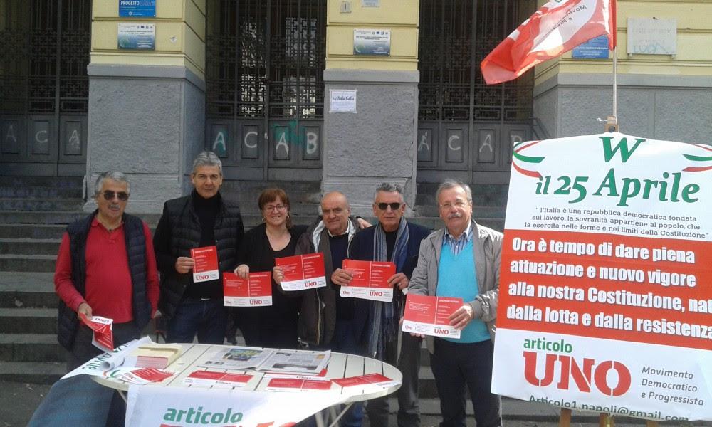 Articolo uno-MpD-Salerno-25 Aprile-Ragosta-Attivisti-1