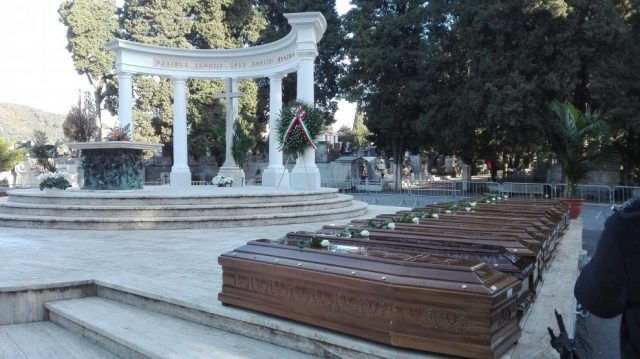Bare delle 26 donne migranti morte-Foto Repubblica
