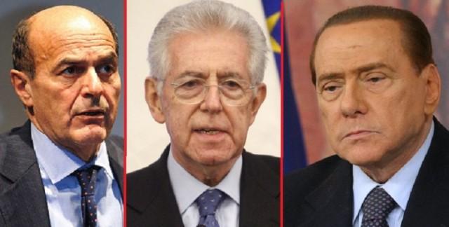Bersani-Monti-Berlusconi