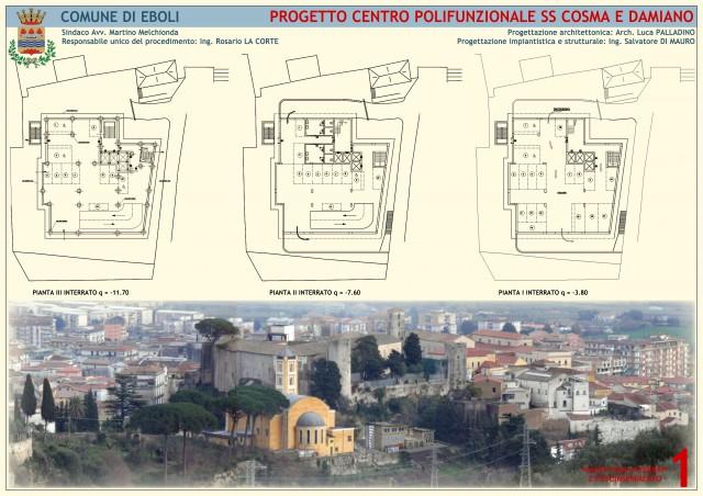 Centro Polifunzionale-SS Cosma e Damiano-Rendering
