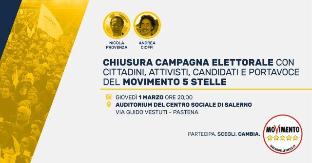Chiusura Campagna elettorale M5S