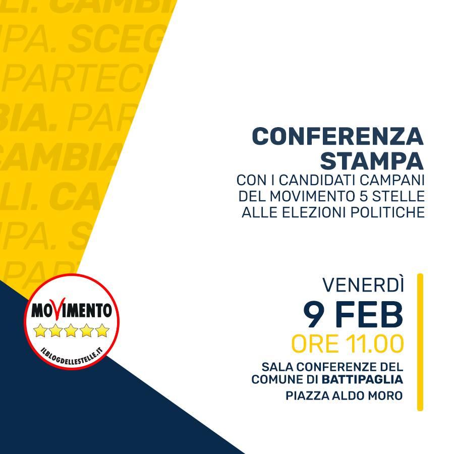 Conferenza stampa-M5S-presentazione-candidati- Battipaglia