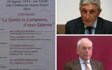 Convegno Sanità-Antonio Bassolino-Carmelo Conte
