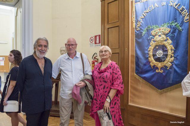 Vito Mercurio con Giuseppina Pecoraro Mostra di pittura Salerno
