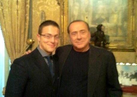 Damiano Cardiello-con-Silvio Berlusconi