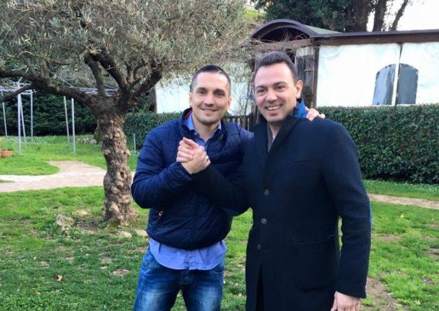 David Mounard con Gaetano Amatruda
