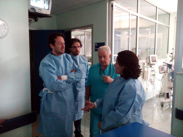 Delegazione M5S-Cammarano-Viglione-Visita Ospedale