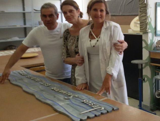 Diana Naponiello con Mimmo De Stefano e Amelia Marino