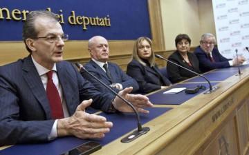 Massimo Donadi, Bruno Tabacci, Babara Contini, Maria Grazia Guida, Giovanni Maria Flick