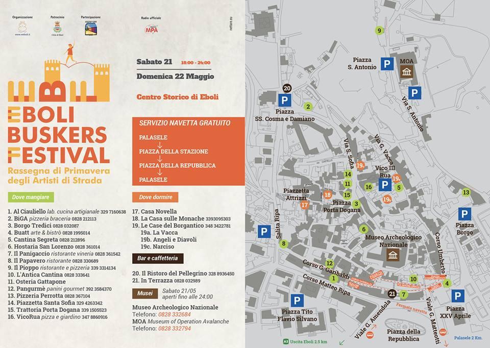 Eboli Buskers Festival- piantina eventi