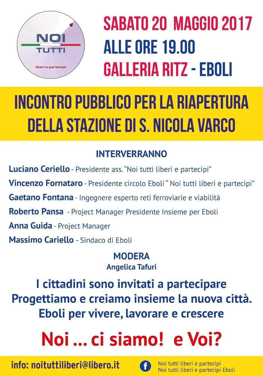 Convegno-Stazione-san Nicola Varco-Eboli