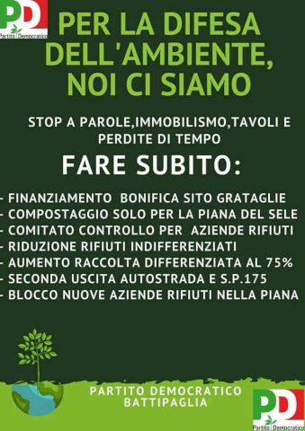 Manifesto PD Battipaglia compostaggio