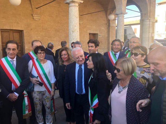 Assisi-De Luca e i 100 Sindaci