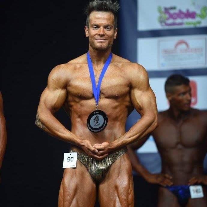 Carlo Mortale Medaglia d'argento Mondiali di bodybuilding