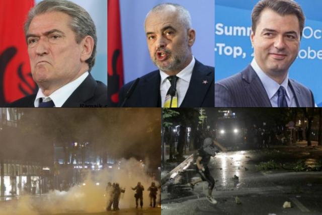 Sali Berisha-Lulzim Basha-Edi-Rama-disordini Tirana