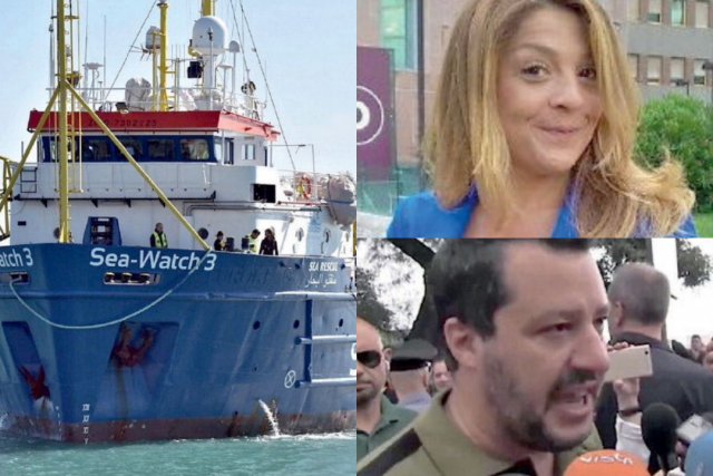Sea Watch-Monica Napoli-Matteo Salvini