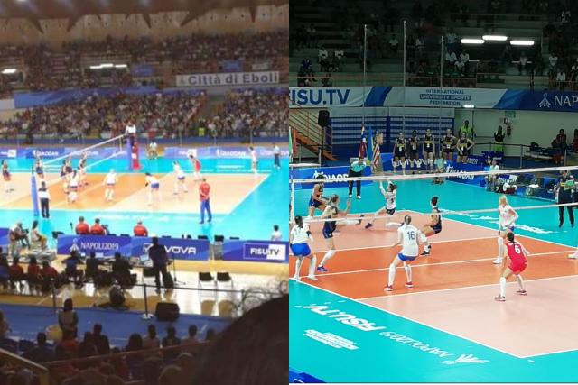 Universiadi 2019 Palasele Volley Masc e Femm Medaglie Oro e Argento