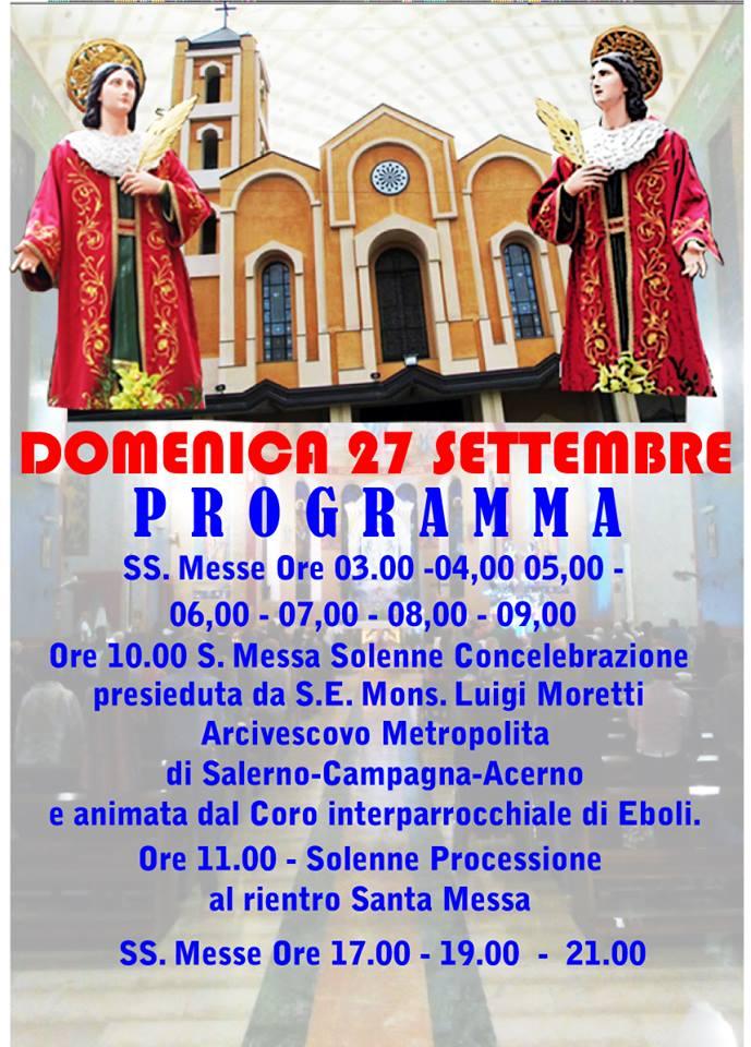 Festa SS Cosma e Damiano Programma