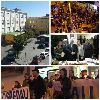 Fiaccolata Protesta-Sanitá-Eboli-Adelizzi-Lioi-Montemarano-Caropreso-Moccaldi-Scotillo