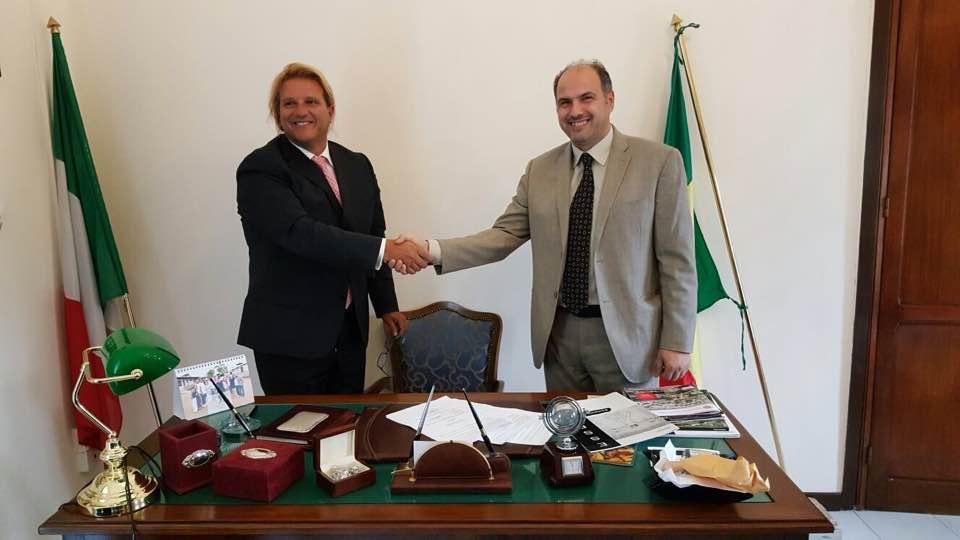 Console Giuseppe Gambardella e DS Dario Palo