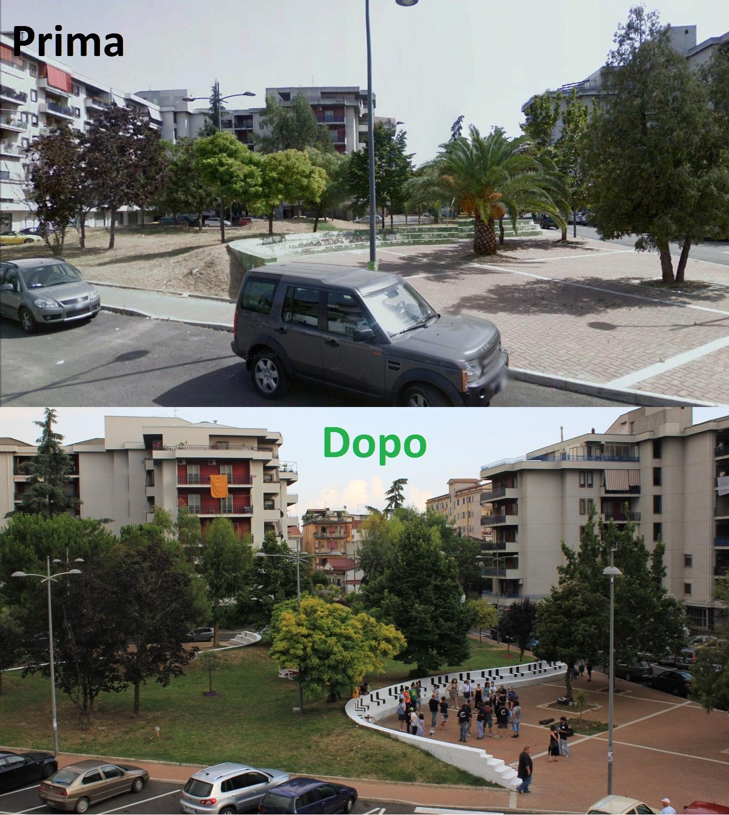 Foto Piazza De Vita-prima e dopo