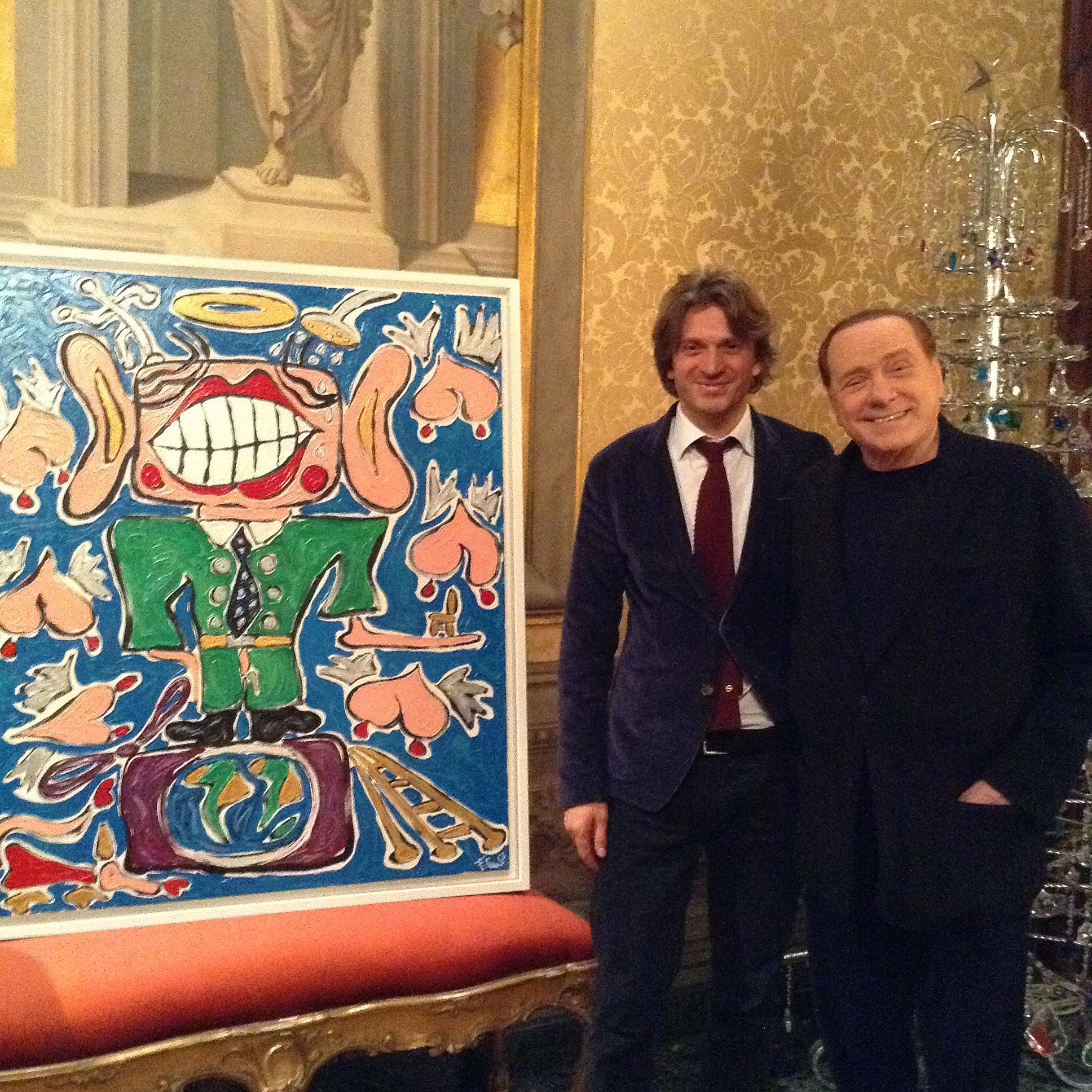 Francesco Cuomo con Silvio Berlusconi