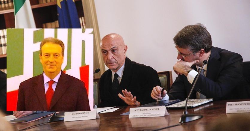 Franco Cardiello-Marco Minniti-Raffaele Cantone