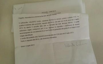 Furto Ospedale Eboli-Dichiarazione-portinaio