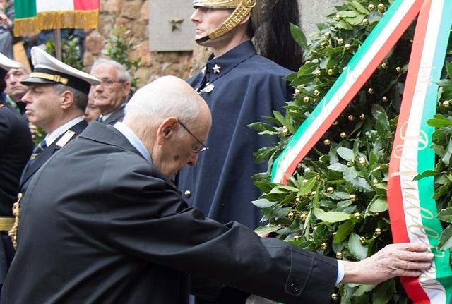 Giorgio-Napolitano-70-Fosse-ardeatine.