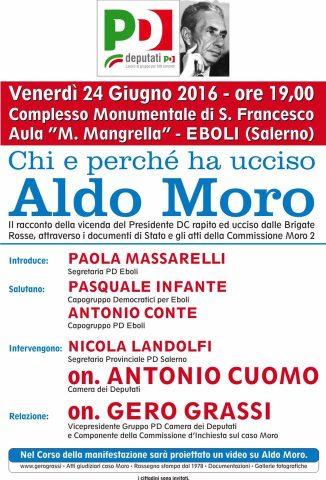Convegno a Eboli: Chi e perché ha ucciso Aldo Moro