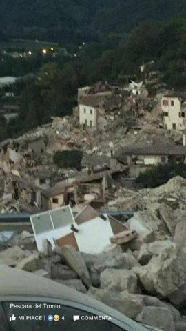 Terremoto Lazio 2016- Pescara del Tronto