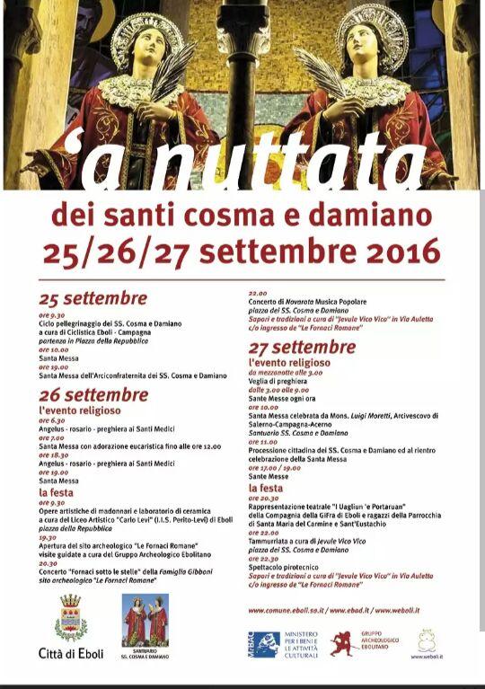 Ss Cosma e Damiano2016-Festa-programma