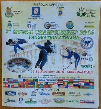 Eboli-Campionato mondiale Pancrazio
