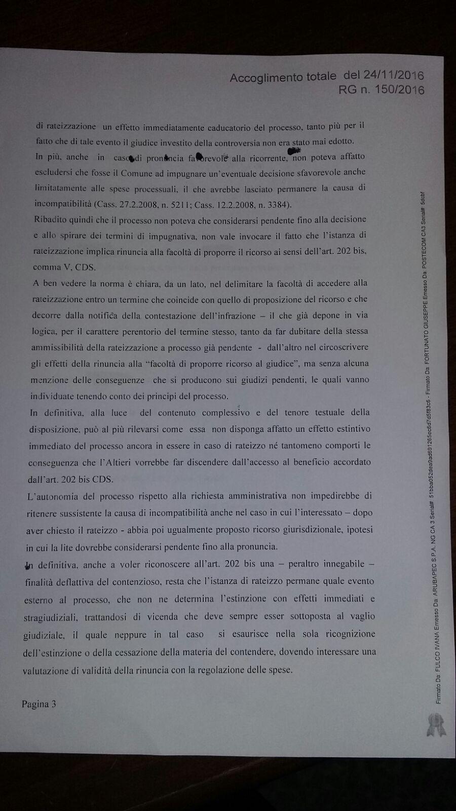 Ordinanza surroga Pellegrino 3