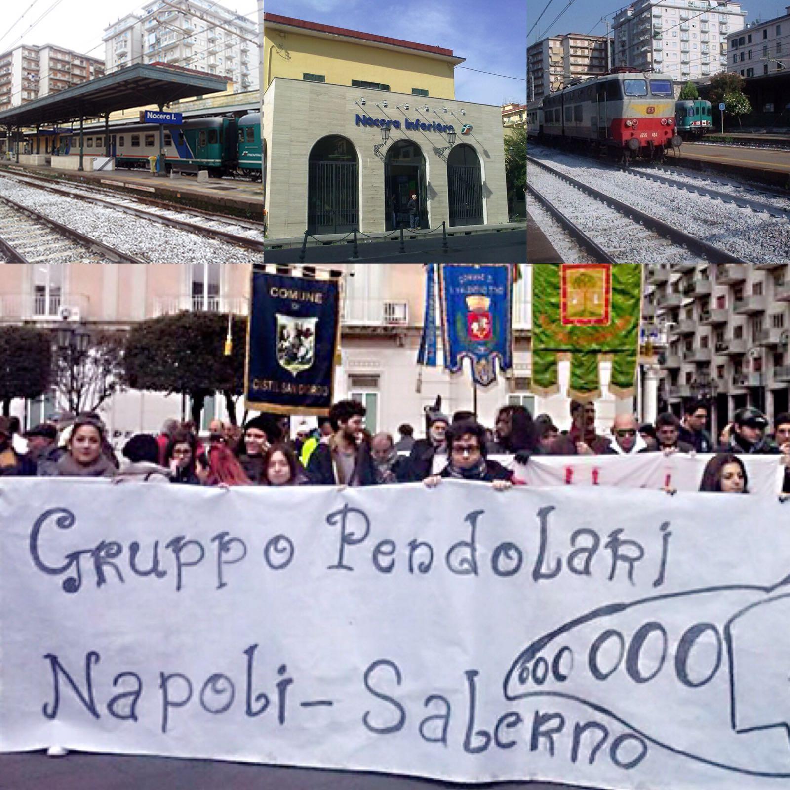 pendolari Napoli-Salerno-protesta