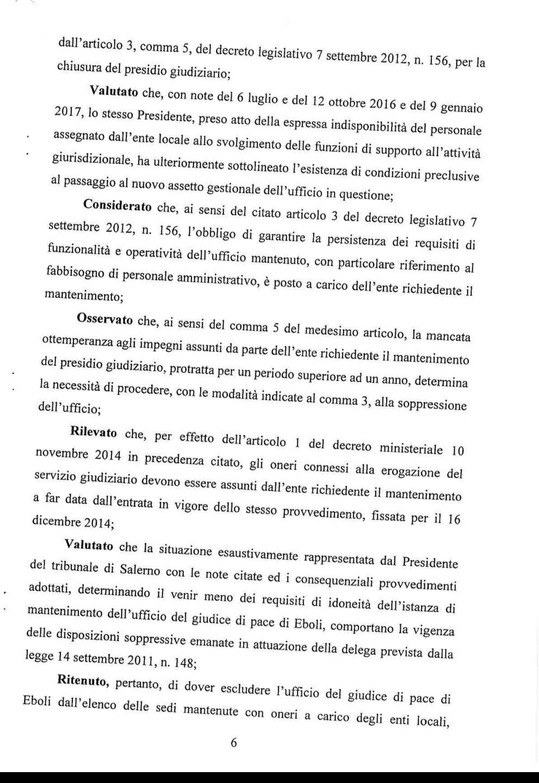 Decreto Ministro giustizia eboli6